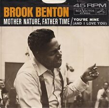 """Brook Benton """"Mother Nature Father Time"""" RCA 47-8693 Record & Picture Sleeve"""