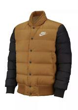 Men's Nike Sportswear Down Fill Jacket Mustard BLACK 928819-727 Size S, M, L, XL