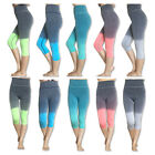 Capri Cropped Women Leggings Pants for Yoga Gym Fitness Workout Wear S M L XL
