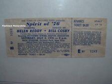 HELEN REDDY / BILL COSBY 1976 Unused Ticket RICH STADIUM Buffalo NY Bicentennial