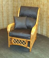 CHAIR CUSHION COVERS CONSERVATORY WICKER CANE FURNITURE FAUX LEATHER OR SUEDE