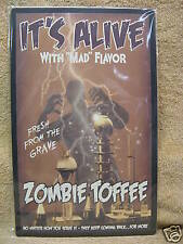 It's Alive Zombie Toffee HALLOWEEN Scary Tin Metal Sign
