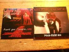 MYLENE FARMER [2 CD maxi single] peut-etre toi + avant que l 'ombre Live (défectueux)