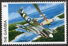 RAAF Royal Australian Air Force SPITFIRE Mk.VIII Aircraft Stamp (1996 Gambia)
