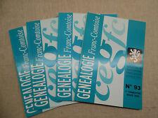 LOT Généalogie Franc-Comtoise 4 Bulletins Année 2003 Complète Franche-Comté