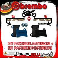 BRPADS-50600 KIT PASTIGLIE FRENO BREMBO HONDA CB S 1998- 500CC [CC+GENUINE] ANT