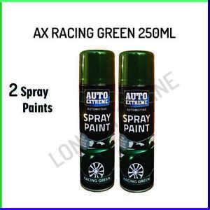 2x Auto Racing Green Gloss Aerosol Spray Can Car Auto Extreme Spray Paint 250ml
