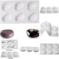 1PCS Silicone Super Vivid Elliptical Pebble Stone Baking Pan For Cakes Mousse