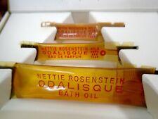 """Rare Vintage NETTIE ROSENSTEIN """"Odalisque"""" Bath Oil Eau de Parfum Samples Boxed"""