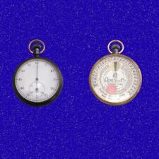 Rare Double Dial Patent Stop Pocket Watch &Wynnes Infallible Exposure Meter 1900