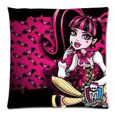 Custom Monster High Charming Girl Zippered Square Pillow Case Cover 18x18 Inch