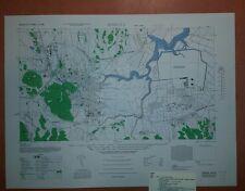 1946 US Army Map City Plan of Isahaya, Nagasaki-Ken Kyushu  Japan 1:12,500