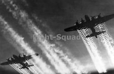 WW2 Picture Photo B-17 Flying Fortress Bomber in flight leaving contrails  1556