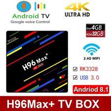 H96MAX Plus+ 4GB+32GB Android 8.1 Smart TV Box 4K HDR10+ Quad Core 5G WiFi@