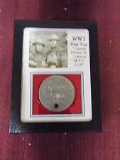 World War I Dog Tag of Captain Homer H. Tallman