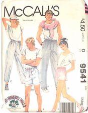 McCALLS # 9541 CAMP BEVERLY HILLS - SZ LARGE  Unisex PANTS & SHORTS - UNCUT 1985
