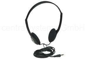 Manhattan Stereo Kopfhörer Ultraleicht 3,5 Klinkestecker schwarz +  langes Kabel