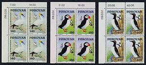 Faroe Islands 36-8 TL Blocks MNH Birds