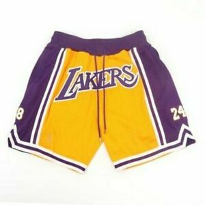 PANTALONCINI/SHORTS ADULTO CON TASCHE-BASKET-NBA-LOS ANGELES LAKERS-BRYANT 8-24