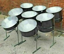 More details for set of panland steel pans 8 piece steel drum band set-up