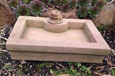 Tränke Schale Vogeltränke Brunnen Rechteck Frosch Sandstein Look D 15 ROT