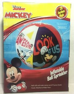 "Disney Junior Mickey Mouse 28"" Inflatable Ball Sprinkler"