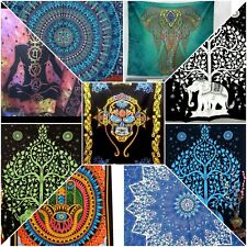 Wholesale 10pc Assorted Hippie Boho Mandala TWIN Psychedelic Tapestry Dorm Decor