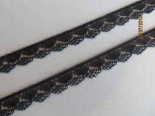 5m schwarz beige Klöppelspitze 1,2cm breit