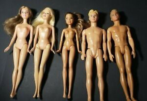 BARBIE LOT WITH 2 KEN DOLLS 1999-2017 LOT OF 5 NUDE