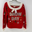 It's our time Snow Day ugly christmas sweater Jr XXL NWT