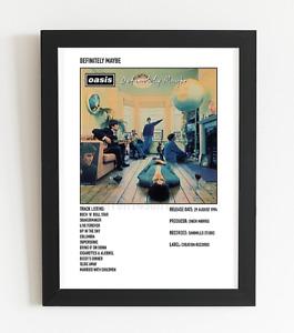 Oasis Album Art Poster Polaroid Style Album Art Posters A4 / A3 Valentines Gift