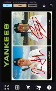 Topps Bunt *Digital* Aaron Judge Gleyber Torres Topps Auto Yankees Card
