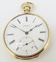 .C 1880s A Lange Sohne Glashutte pocket 18K Gold 50mm Open Faced Pocket Watch