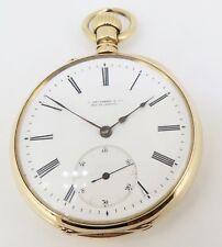 .C 1880s A Lange Sohne Glashutte pocket 18K Gold 50mm Open Faced Pocket Watch