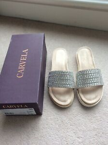 CARVELA Bingo Rhinestone Slider Slippers Size 5/38 BNIB
