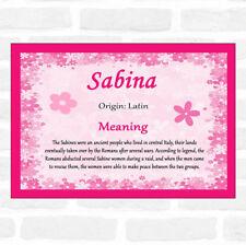 Sabina Name Meaning Pink Certificate