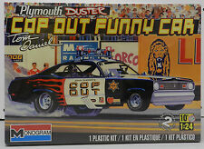 MONGOOSE 1970 PLYMOUTH DUSTER FUNNY CAR COP OUT DRAG SEALED MONOGRAM MODEL KIT