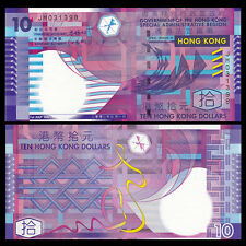 HongKong Hong Kong 10 Dollars, Paper Money, Government of HK, 2002, P-400 UNC