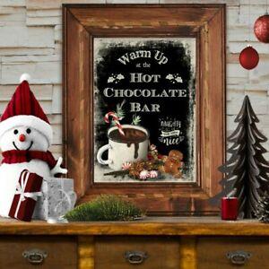 Christmas Hot Chocolate Bar Wall Art Print Sign