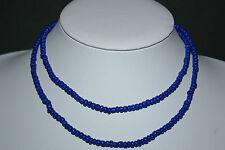 Strang 70 cm blaue indische Glasperlen Bastelperlen 4,5 mm