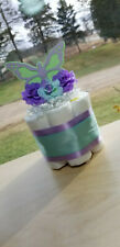 Mini Diaper Cake - Butterfly and Flower Diaper Cake - Spring Diaper Cake