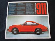 1965 1966 Porsche 911 Original Catalog En / De / Fr Early Sales Brochure