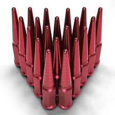 Spike Lug Nuts 12x1.5 Cone Fit 4Runner Tundra Supra Celica FJ Cruiser Matrix Red
