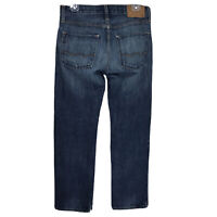 Mens 29x30 American Eagle Slim Straight Medium Blue Jeans 100% Cotton Denim