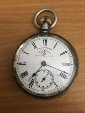 Silver Pocket Watch F Bachschmid Patent 4554