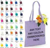 PERSONALISED COLOUR TOTE BAG CUSTOM LOGO PHOTO PRINTED COTTON BAG HEN PARTY