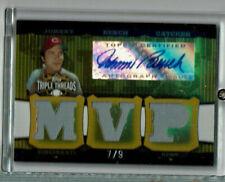 Johnny Bench auto Jsy 7/9, 2006 Topps Triple Threads MVP, Cincinnati Reds