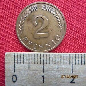 Deutschland 2 Pfennig 1969 J Rondenverwechselung nicht magnetisch +Zertifikat Vz
