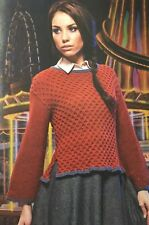 KNITTING PATTERN Ladies Peanut Brittle Jumper Textured Sweater Louisa Harding