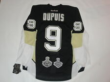 PASCAL DUPUIS SIGNED PITTSBURGH PENGUINS RBK EDGE 2009 2016 STANLEY CUP JERSEY